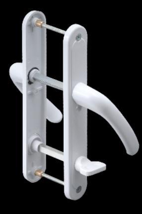 AKP040-Plastik WC Kapı Kolu (Demirli)